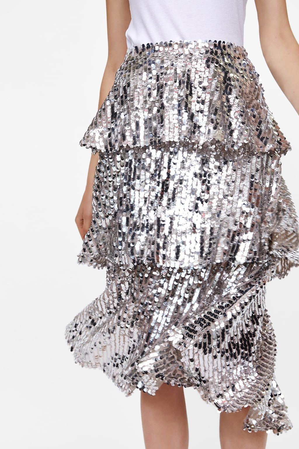 75bc2f83d8 Image 6 of SEQUIN RUFFLED SKIRT from Zara | F/W 18/19 in 2019 ...