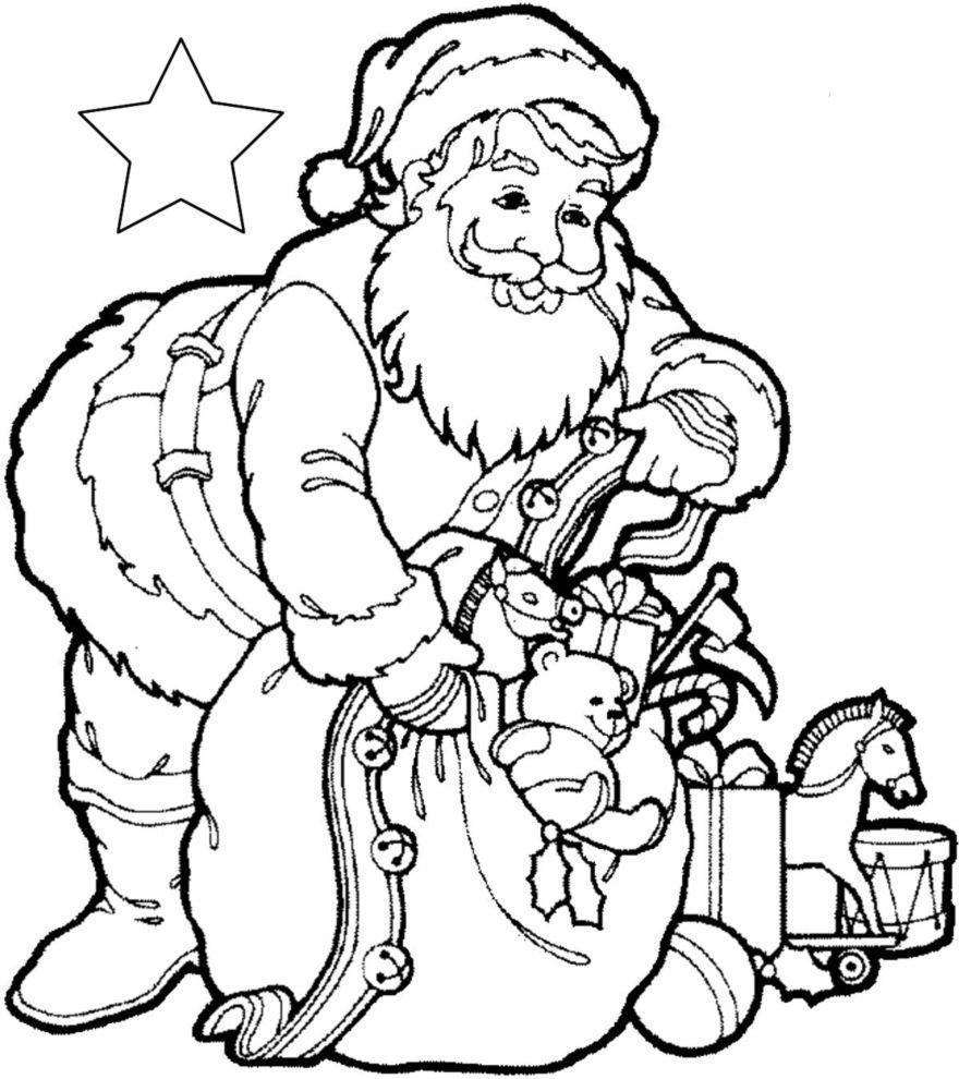 Axxasocial Babbo Natale Da Stampare E Colorare Foto Di Babbo Natale