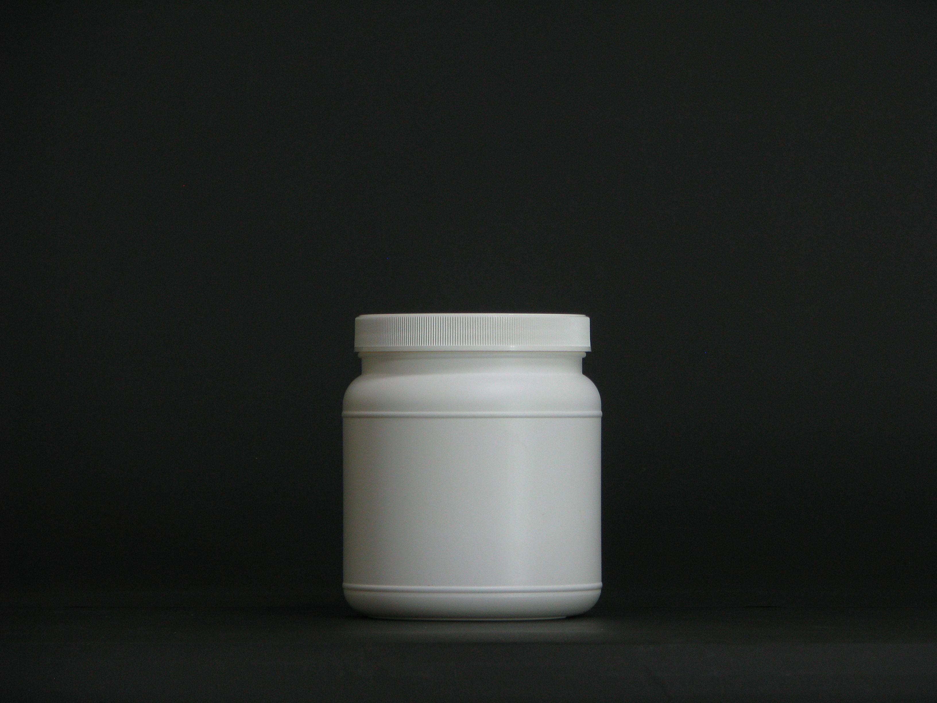 1250ml empty white PE tablet bottle empty bottles for