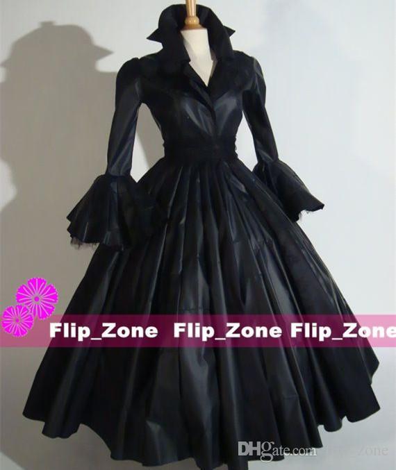 Vintage Halloween 1950\'S Fashion Evening Dresses 3/4 Long Sleeves ...