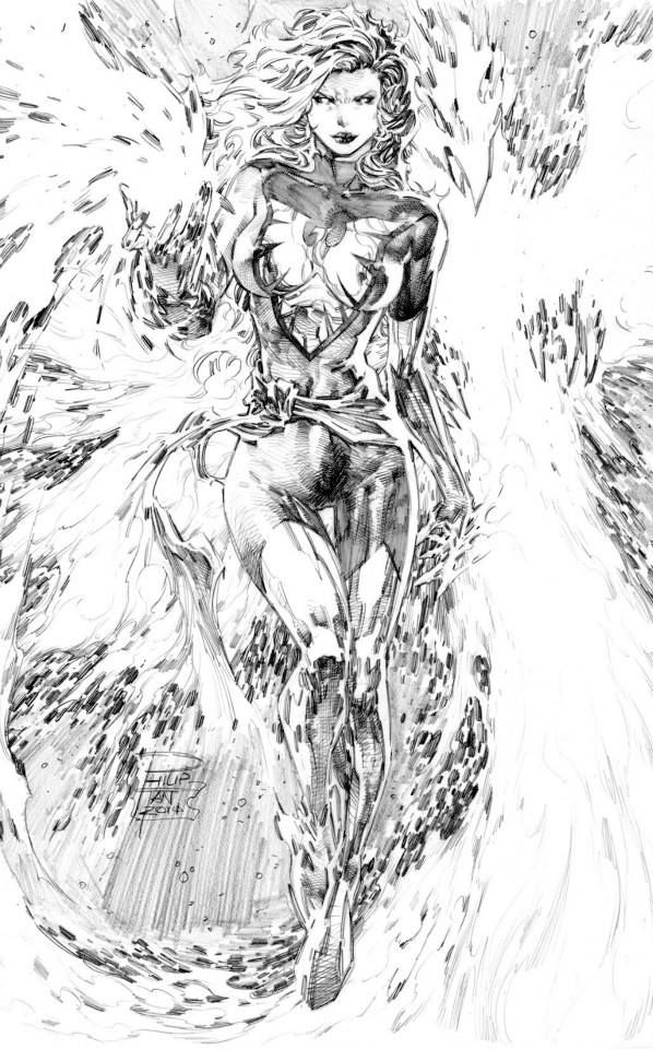 Jean Grey - Phoenix by Philip Tan *