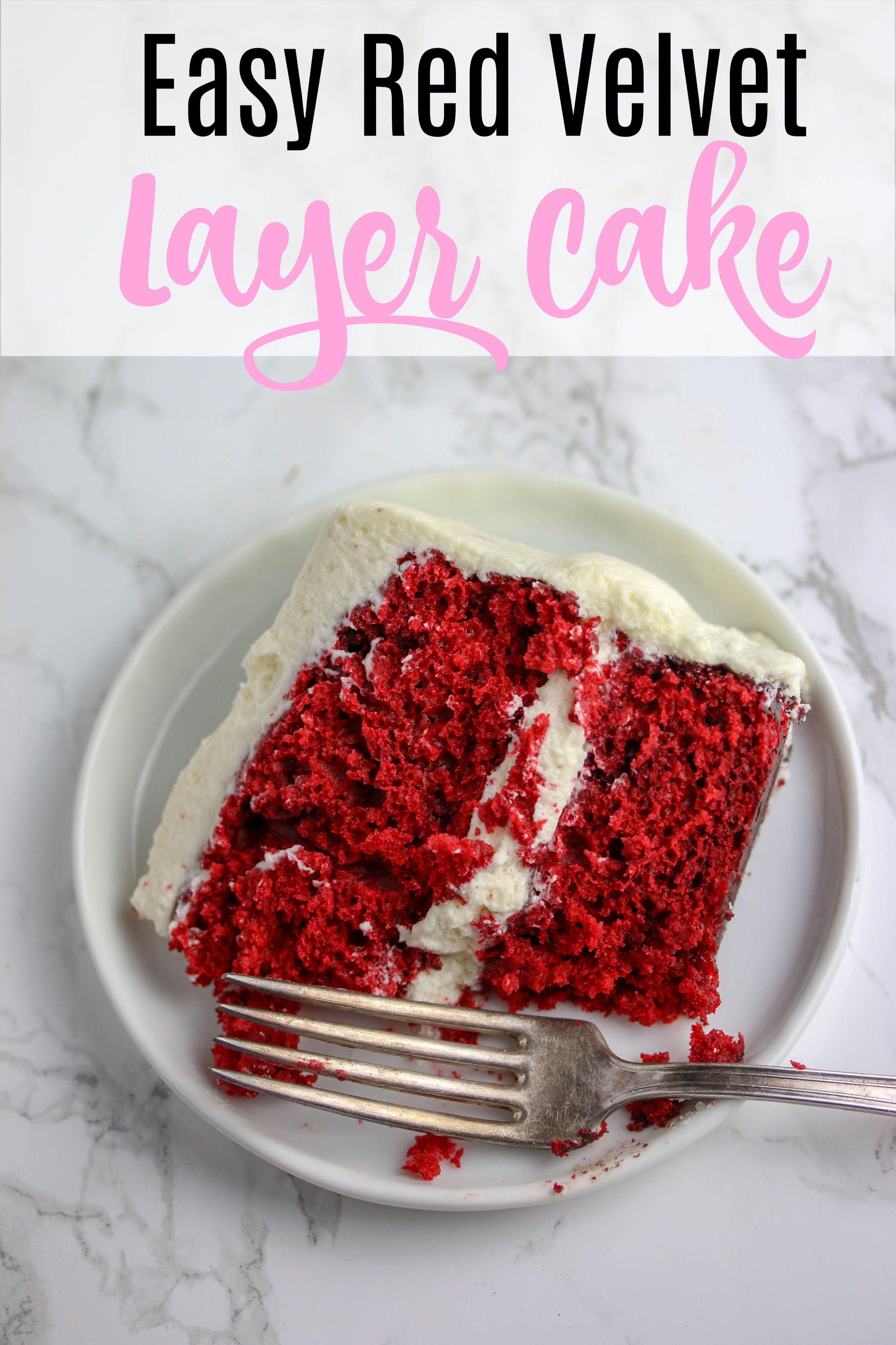 Easy Red Velvet Layer Cake Recipe Recipe Velvet Cake Recipes Red Velvet Cake Easy Red Velvet Cake