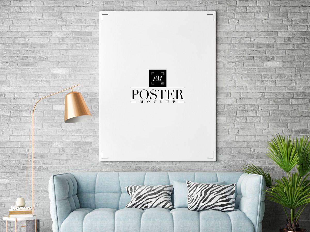 Room Interior Frame Poster Mockup Psd Free Poster Mockup Poster Mockup Psd Mockup Free Psd