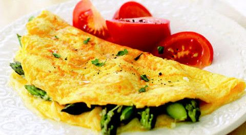 Paleo Asparagus Omelet. Low-Carb, Gluten-Free, Grain-Free.