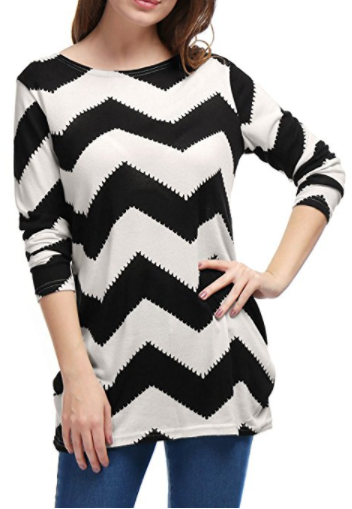 d21b3621392 Amazon   Women s Chevron Pattern Long Sleeves Knitted Relax Fit Tunic Top  Just  4.99 (As of 4 25 2018 5.38 PM EDT)