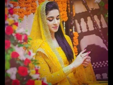 Mehndi Dress With Hijab : Latest ubtan and mehndi dresses for bride new trends of