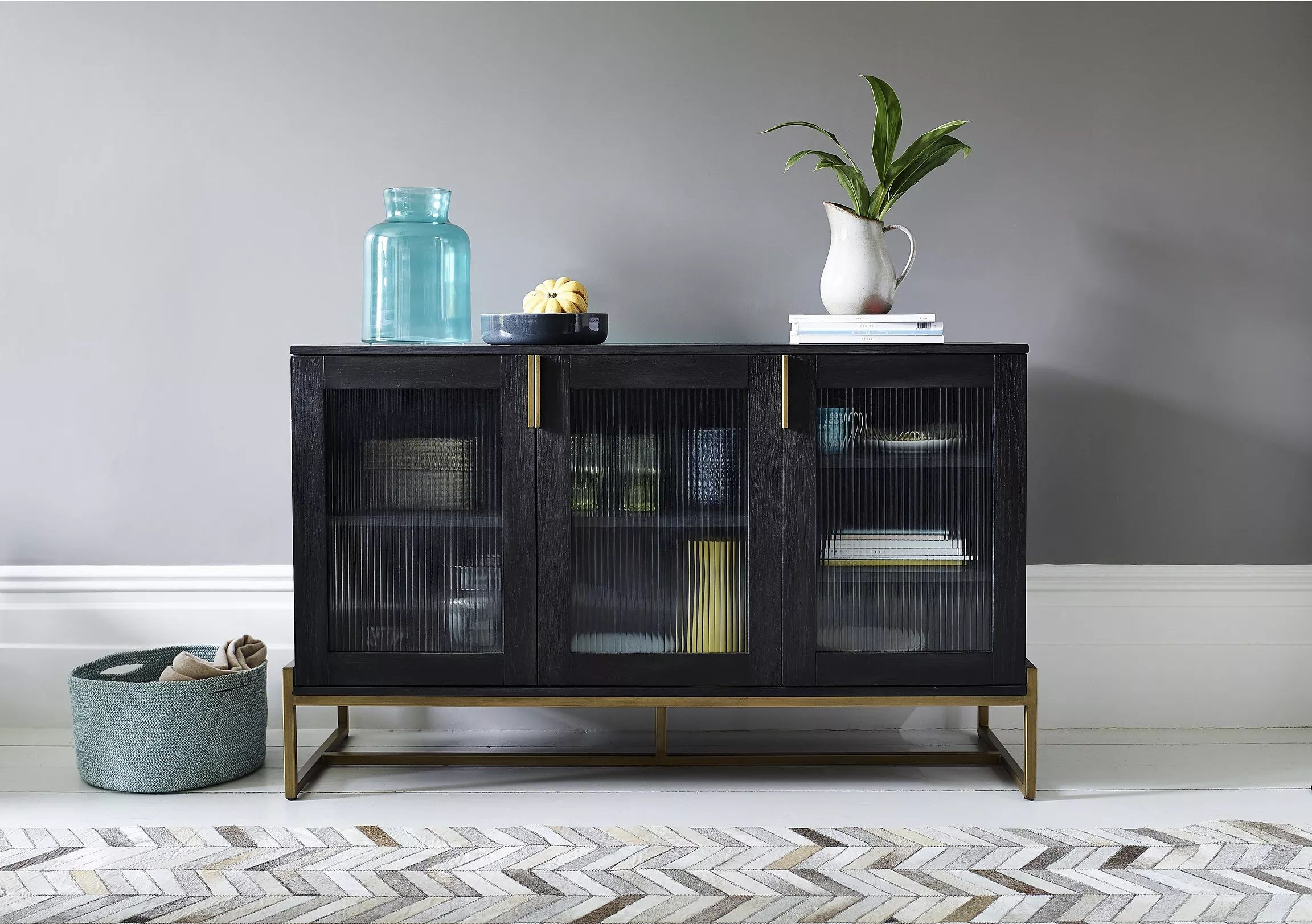 Vogue 3 Door Sideboard Limited Stock Gold Furniture Furniture