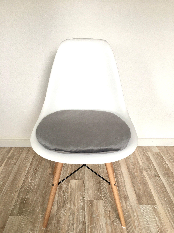 Rundes Sitzkissen 3cm Hoch Silber Grau Eames Chair Eames Etsy Eames Sitzkissen Eames Stuhl
