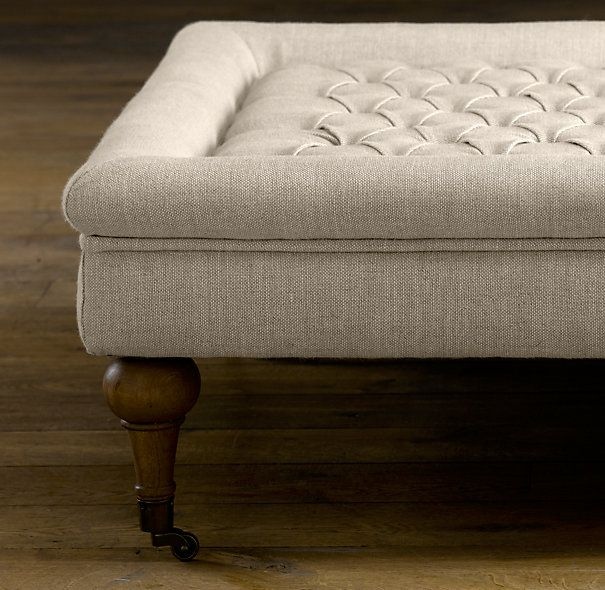 Tufted Coffee Ottoman | Coffee Tables | Restoration Hardware | big ...
