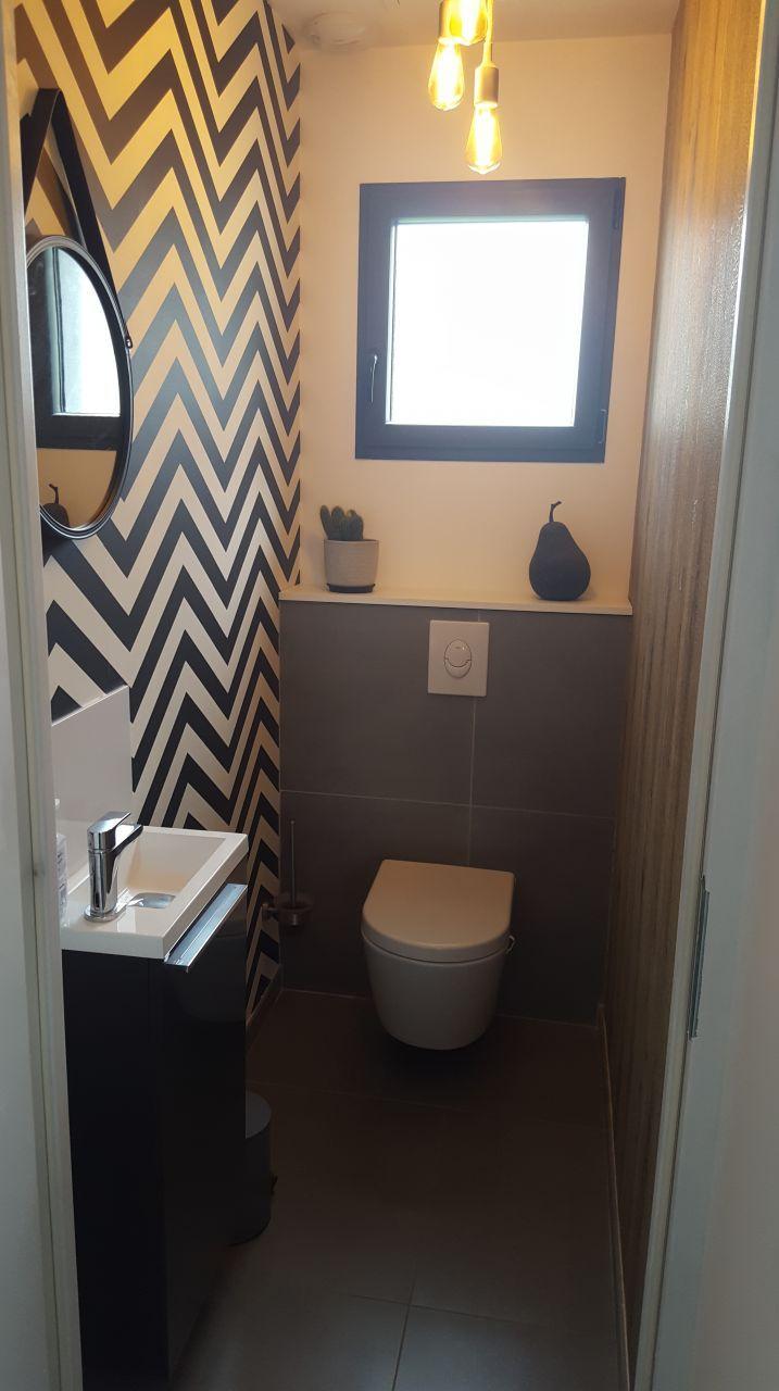 Wc du rdc | Aménagement wc | Idée déco wc, Idée déco toilettes et ...