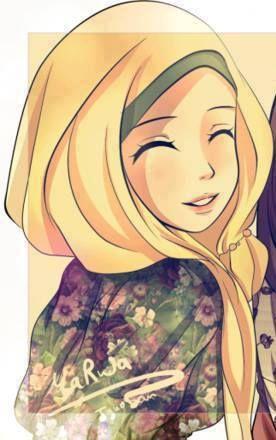 Smiley Hijab Cartoon Hijab Drawing Anime Muslim
