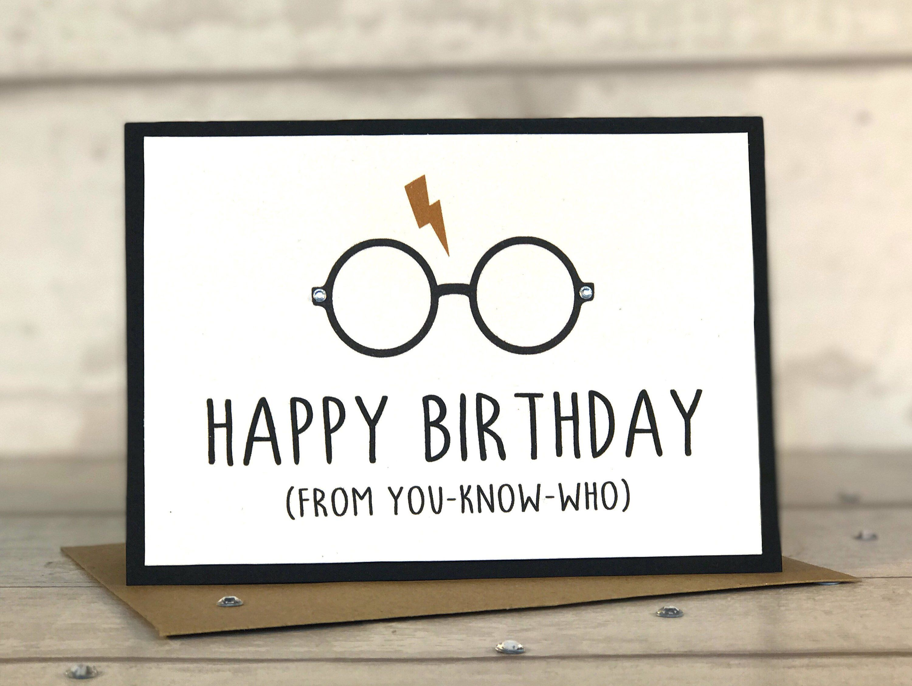 Harry Potter Gifts Dad Birthday Card Diy Handmade Cards Presents Greeting