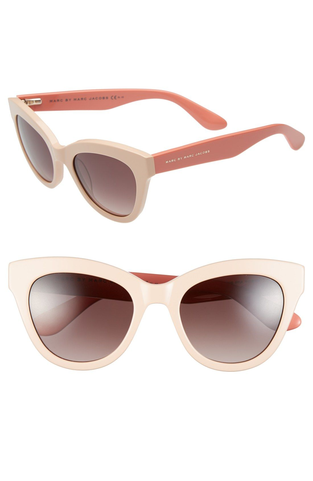 4f19f883f0016 Loving the vintage vibes of these pink retro cat-eye Marc Jacobs sunnies.