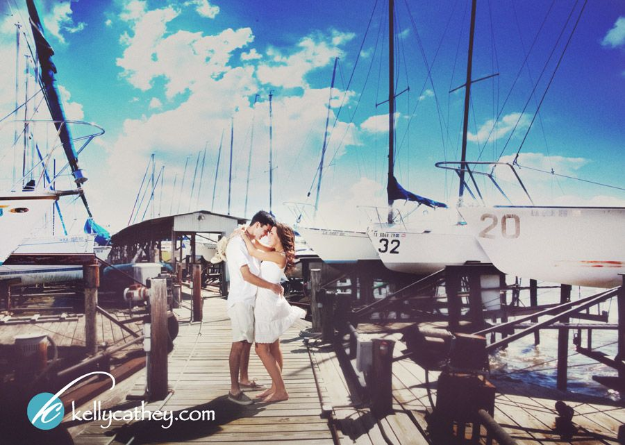 engagement boat sailboat yacht club wedding photography