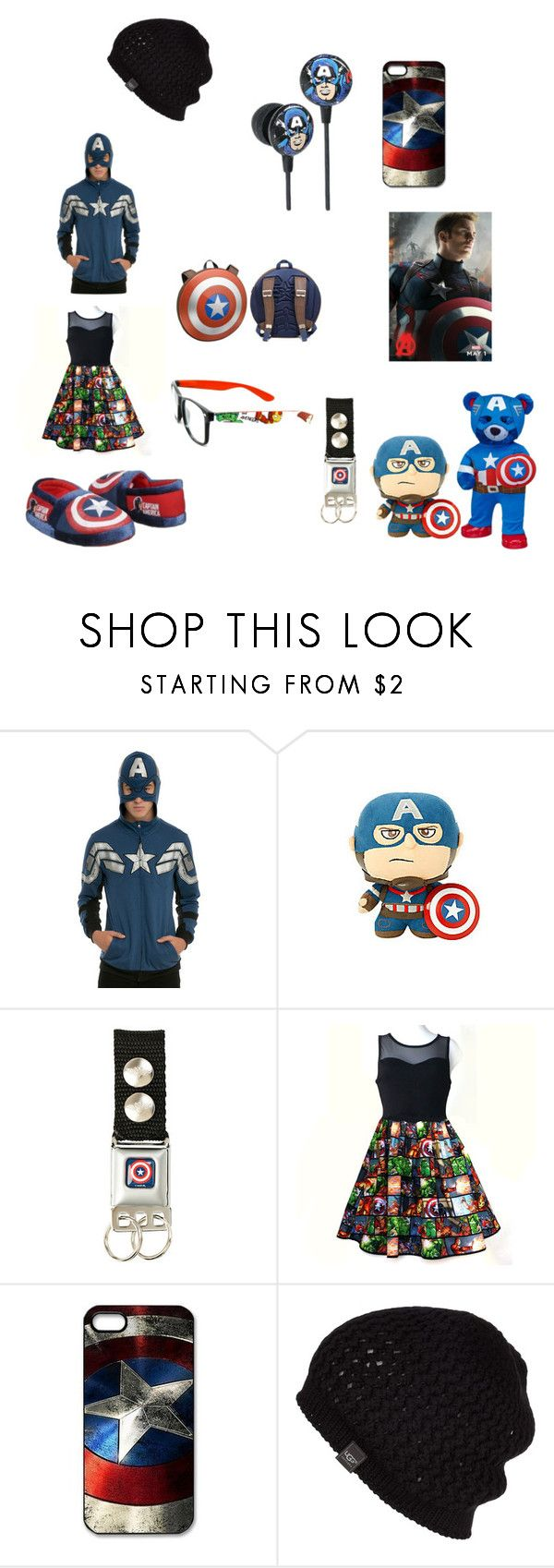 """""""captain america inspired"""" by daviswolf on Polyvore featuring beauty, UGG Australia, Avengers and Captain"""