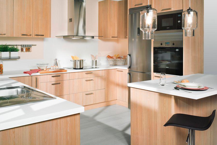 Sue a tu cocina con acabado madera leroy merlin - Cenefas cocina leroy merlin ...