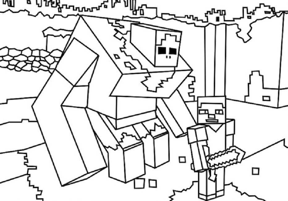 Minecraft Easter Coloring Pages
