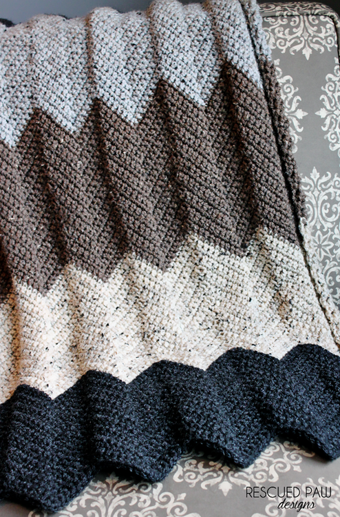 Colorful Chevron Blanket Pattern | crochet | Pinterest | Decken ...