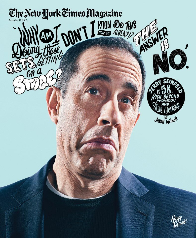 21 Creative and Inspirational Magazine Covers | Jerry seinfeld ...