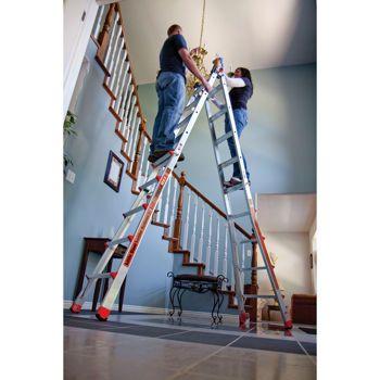 Little Giant Megamax 17 Ladder W Air Deck Little Giants Deck