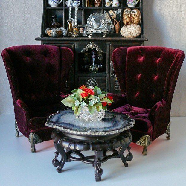 Новые кресла)#dollhouse #dollstagram Miniatures Pinterest
