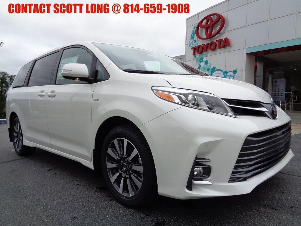 2019 Toyota Sienna New All Wheel Drive Limited Premium Awd Blizzard Pearl Navigation Leather Sunroof Ebay Link