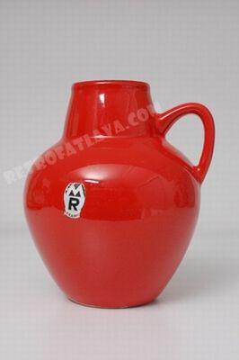 Marzi & Remy handled vase.  Craquele glaze