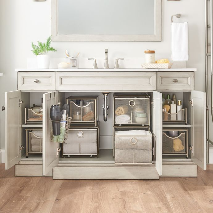 ORG Large Under the Sink Mesh Slide-Out Cabinet Drawer ...