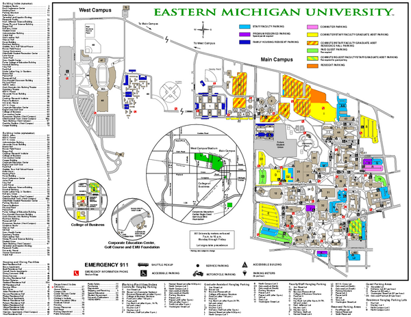 Eastern Michigan University Map Maps Local Eastern