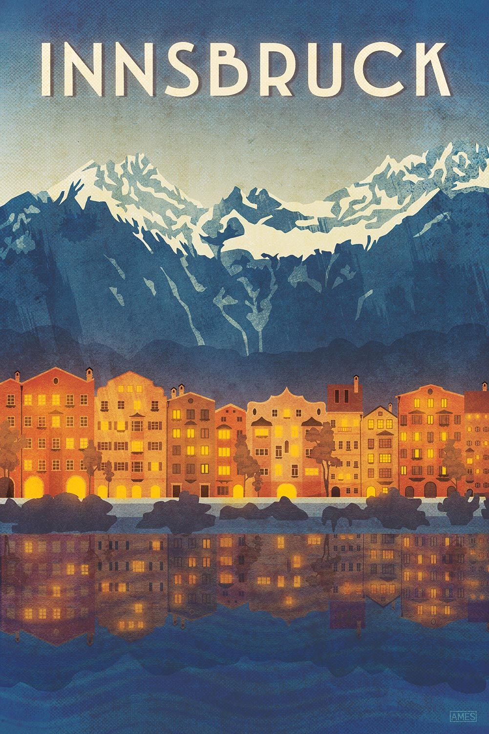, Innsbruck Austria Travel Poster, My Travels Blog 2020, My Travels Blog 2020