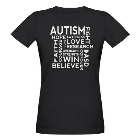Autism World Cloud ASD T-Shirt on CafePress.com