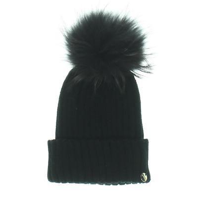 raccoon fur pompom hat - Black Yves Salomon 0N9Ka9w