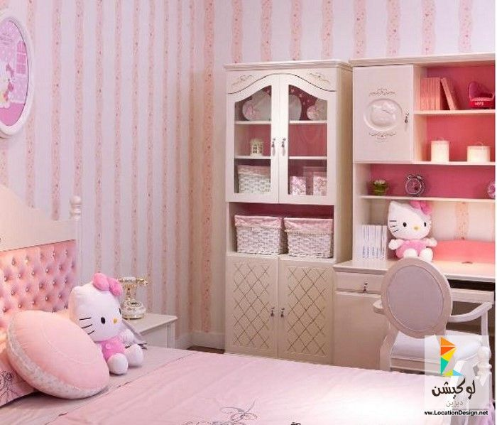 ألوان دهانات غرف نوم بنات كبار بتصميمات روعه   لوكشين ديزين . نت