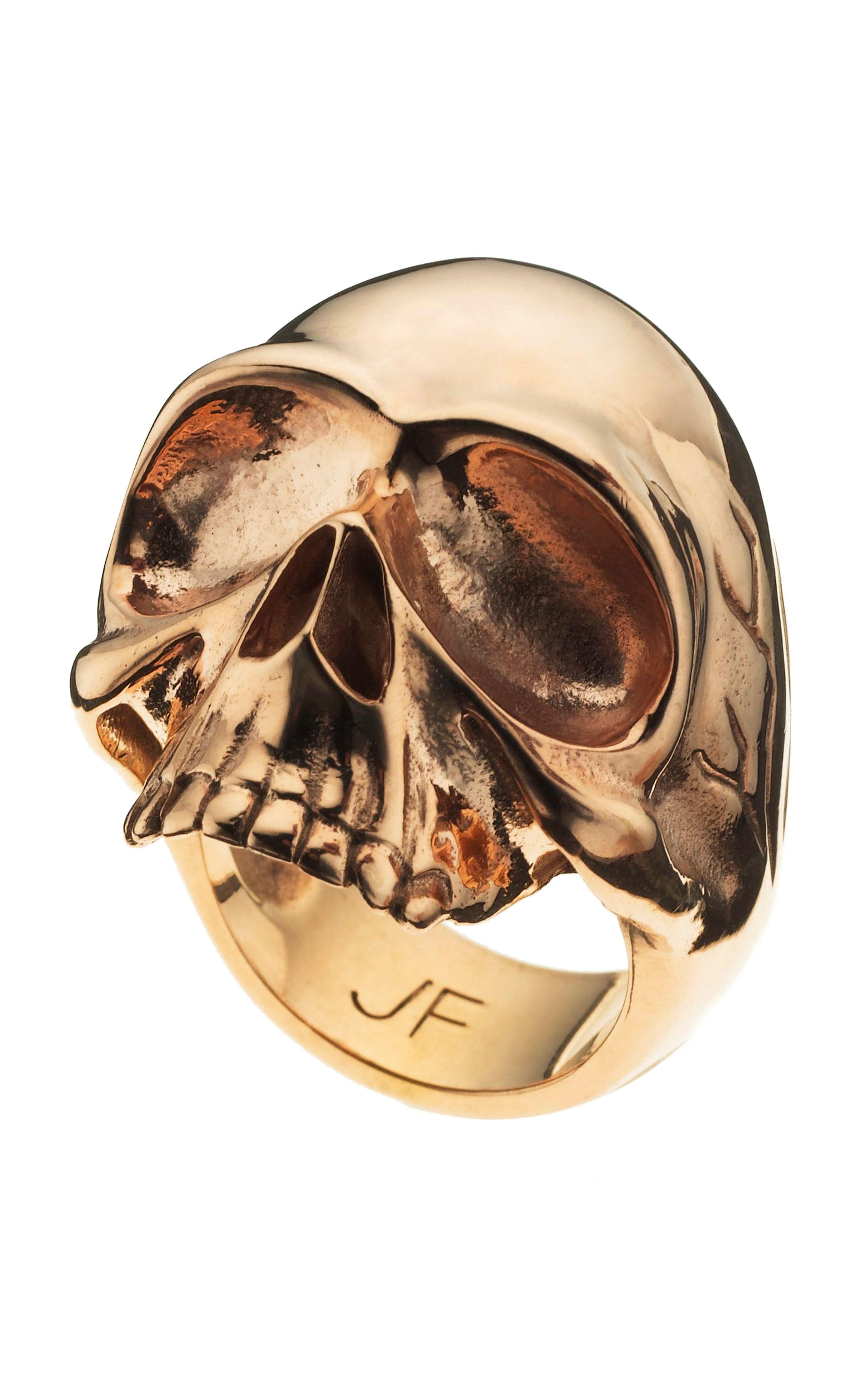 Large Single Skull Ring Skull ring, Skull, Gold skull