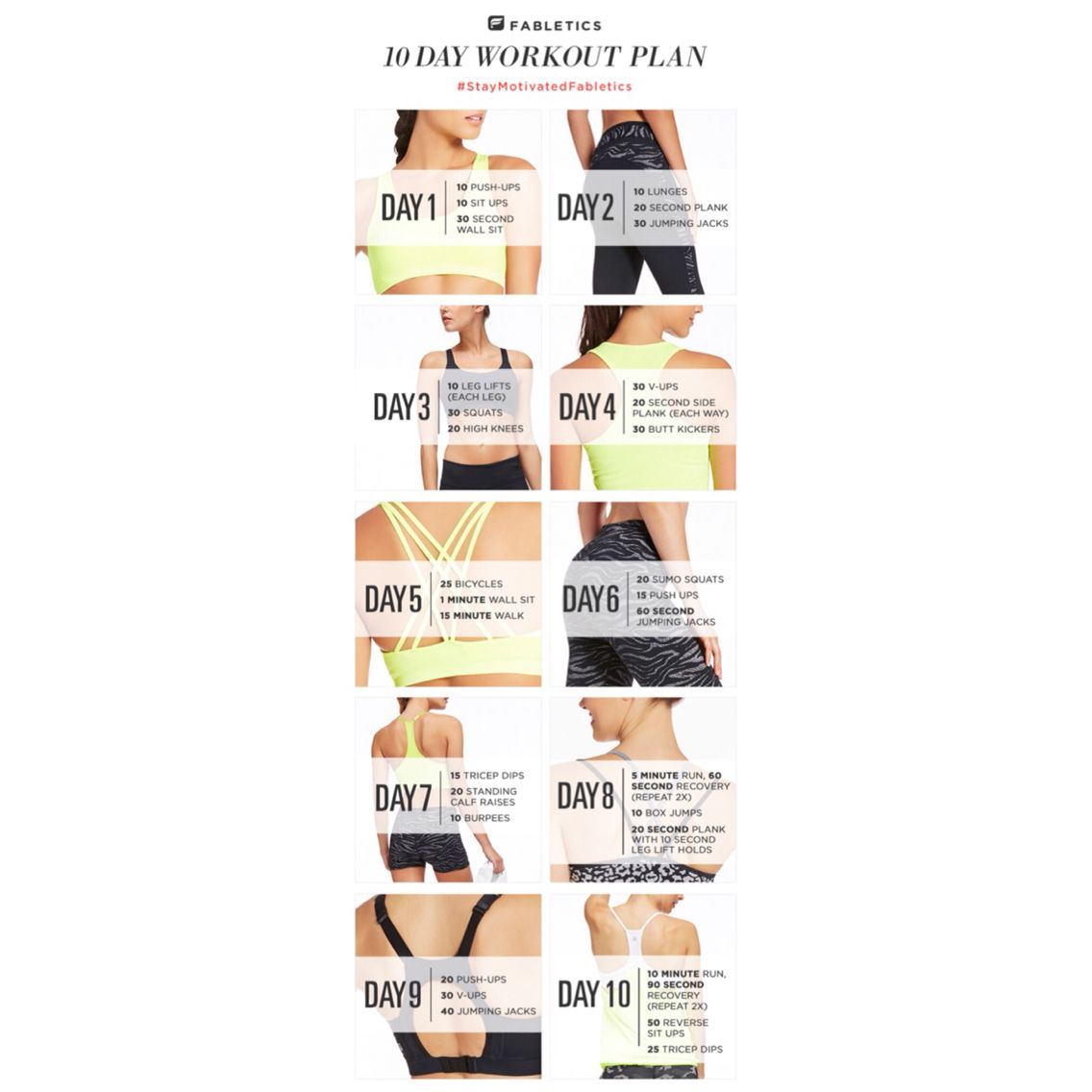 I'm excited to get started tomorrow on this 10 day challenge! My husband's joining me, how about you join in too! #StayMotivatedFabletics @Fabletics #ambsdr #FableticsFitSquad