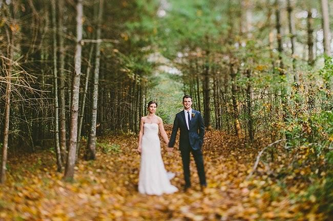 Una boda real de inspiración otoñal: Tim y Amanda