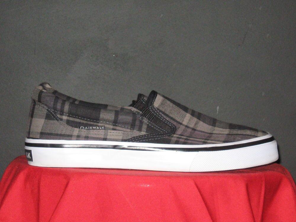Mens Airwalk Plaid Slip On Shoes Size