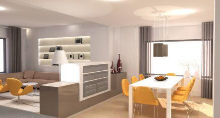 binnenhuisarchitect woonkamer | interieur woonkamer | open keuken ...
