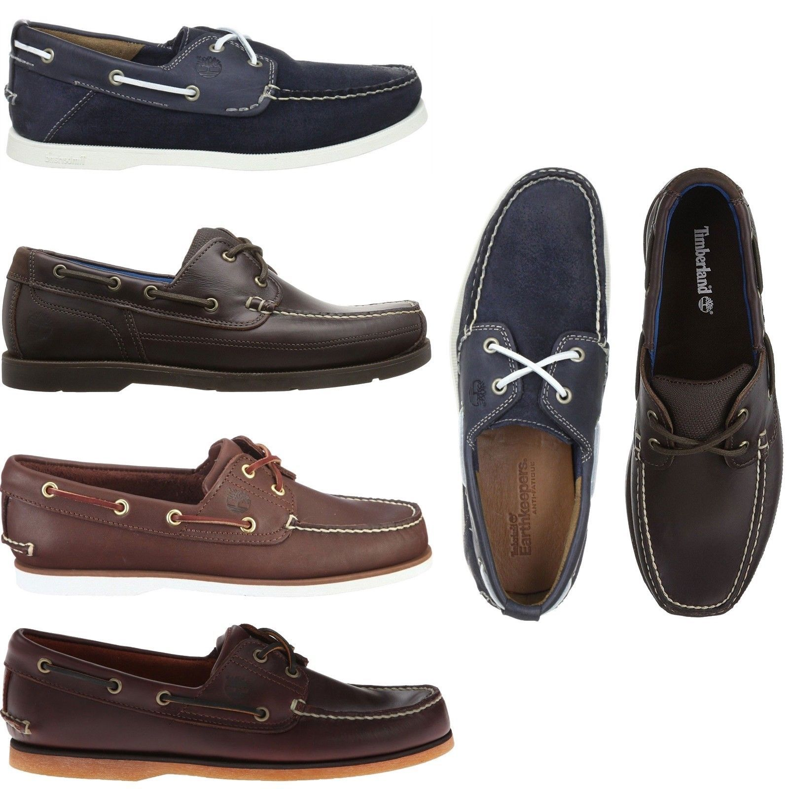Contabilidad Eficacia Intervenir  Timberland Mens Classic 2 Eye Boat Shoes Casual Slip On Leather Loafers NEW  | eBay