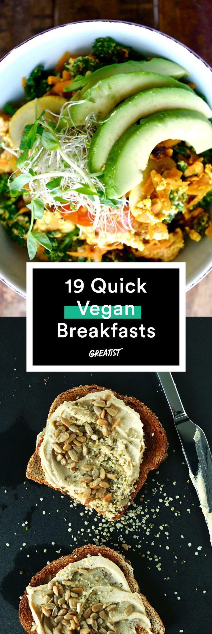 22 Vegan Breakfast Recipes Quick Vegan Breakfast Whole Food Recipes Healthy Vegan