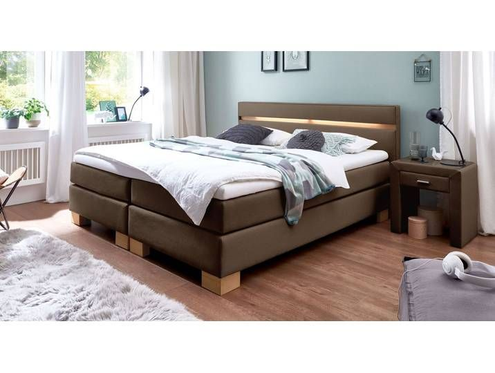 Boxspringbett Vincenzo Mit Led 180x200 Cm Sandfarben H3 Betten De 180x200 Bettende Boxspringbett Led Mit Sandfarben In 2020 Luxury Bedding Bed Box Spring Bed