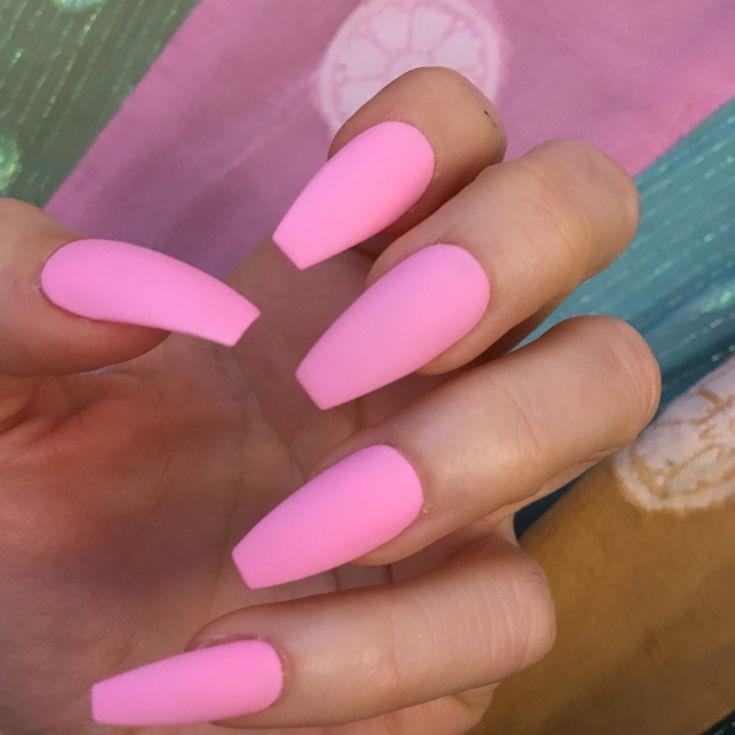 44 Cute Light Pink Matte Nails Designs Matte Nails Design Pink Acrylic Nails Matte Pink Nails