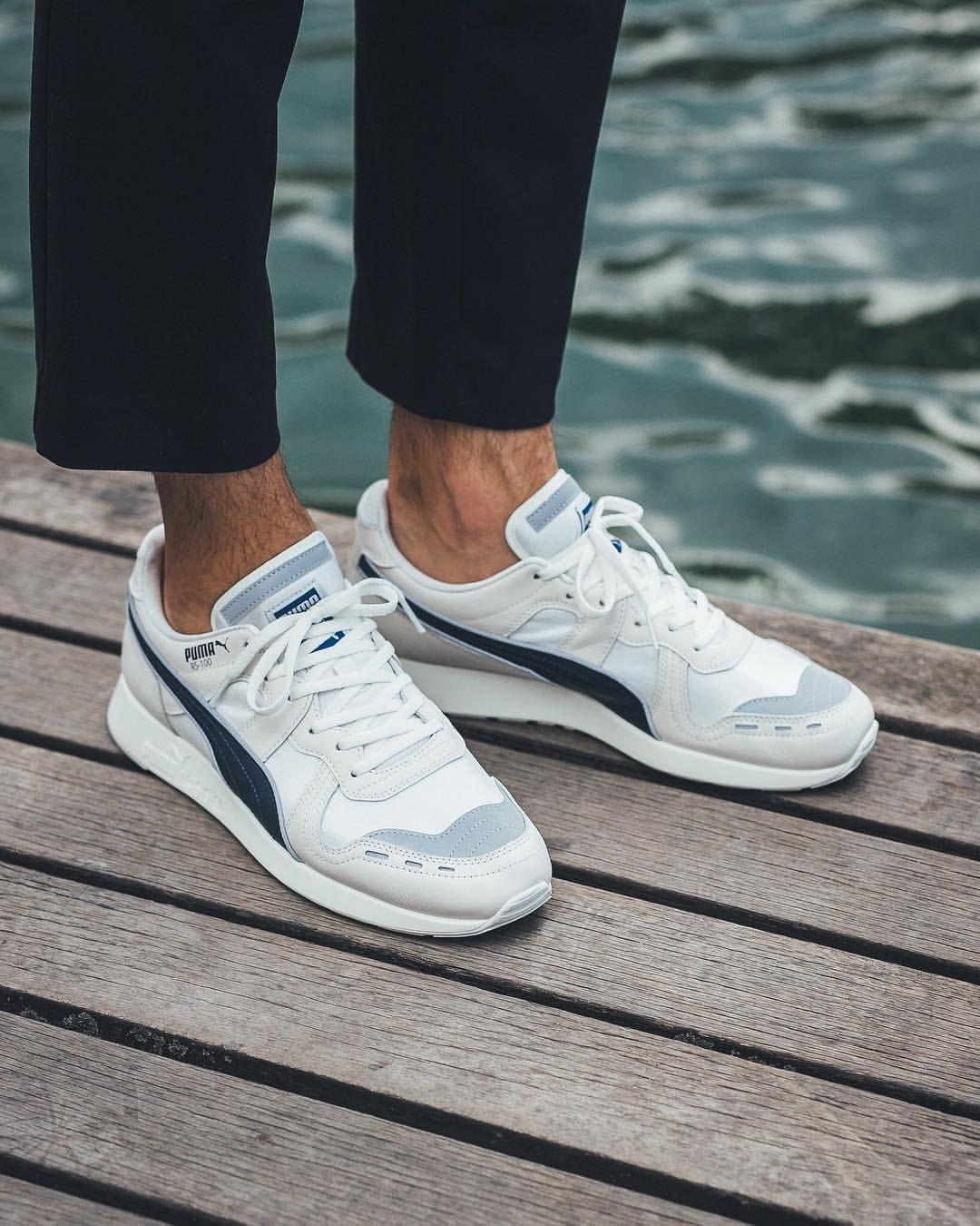 10cc575baa50fb Puma RS-100 PC  Vaporous Grey White Sneakers