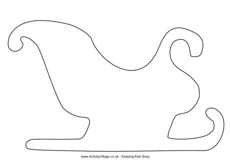 Best Images Of Sleigh Cut Out Printable Templates  Santa Sleigh