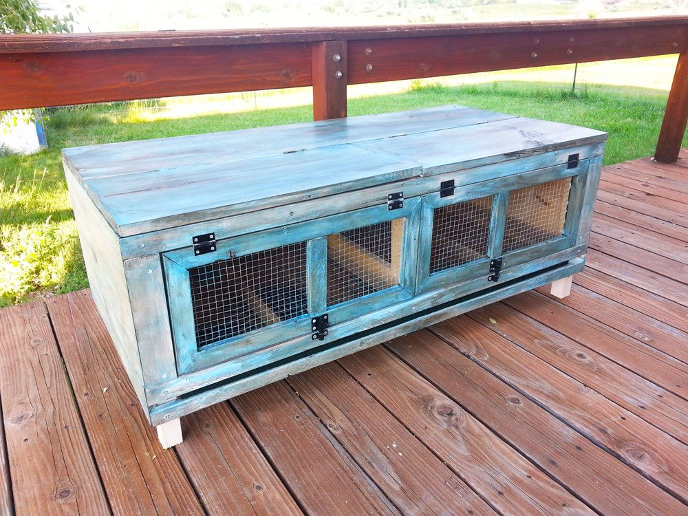 Dual Purpose Quail Hutch And Patio Bench Table. Quail Hutch Designed And  Built For Keeping Coturnix Quail, Our Newly Hatched Feathered Friends.