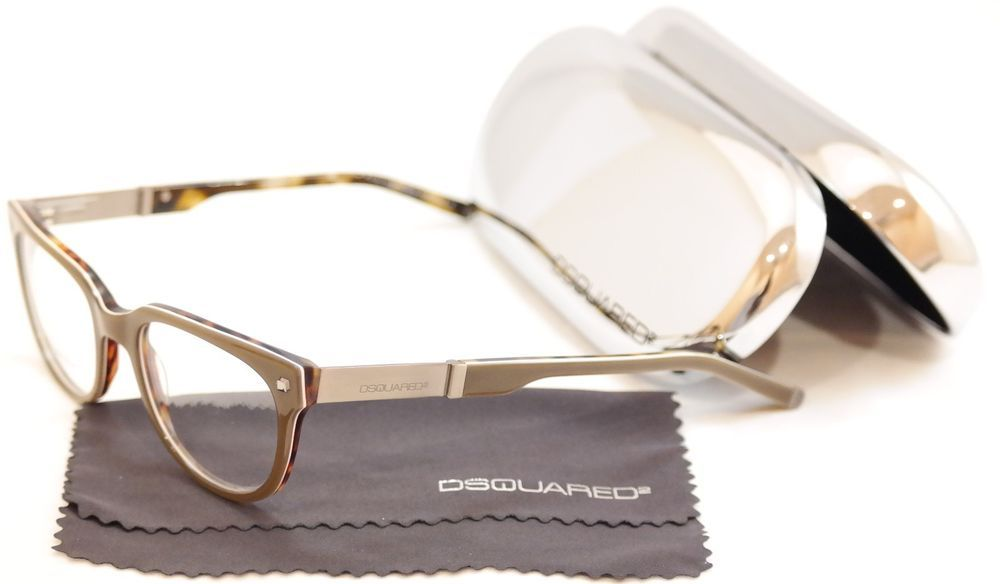 d2789ae69775 Dsquared2 Eyeglasses Frame DQ5102 020 Gray Brown Plastic Italy Made  51-19-145  DSQUARED2