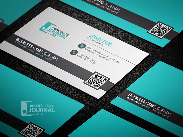 Cool Distinctive QR Code Business Card Template Logo - Business card with qr code template