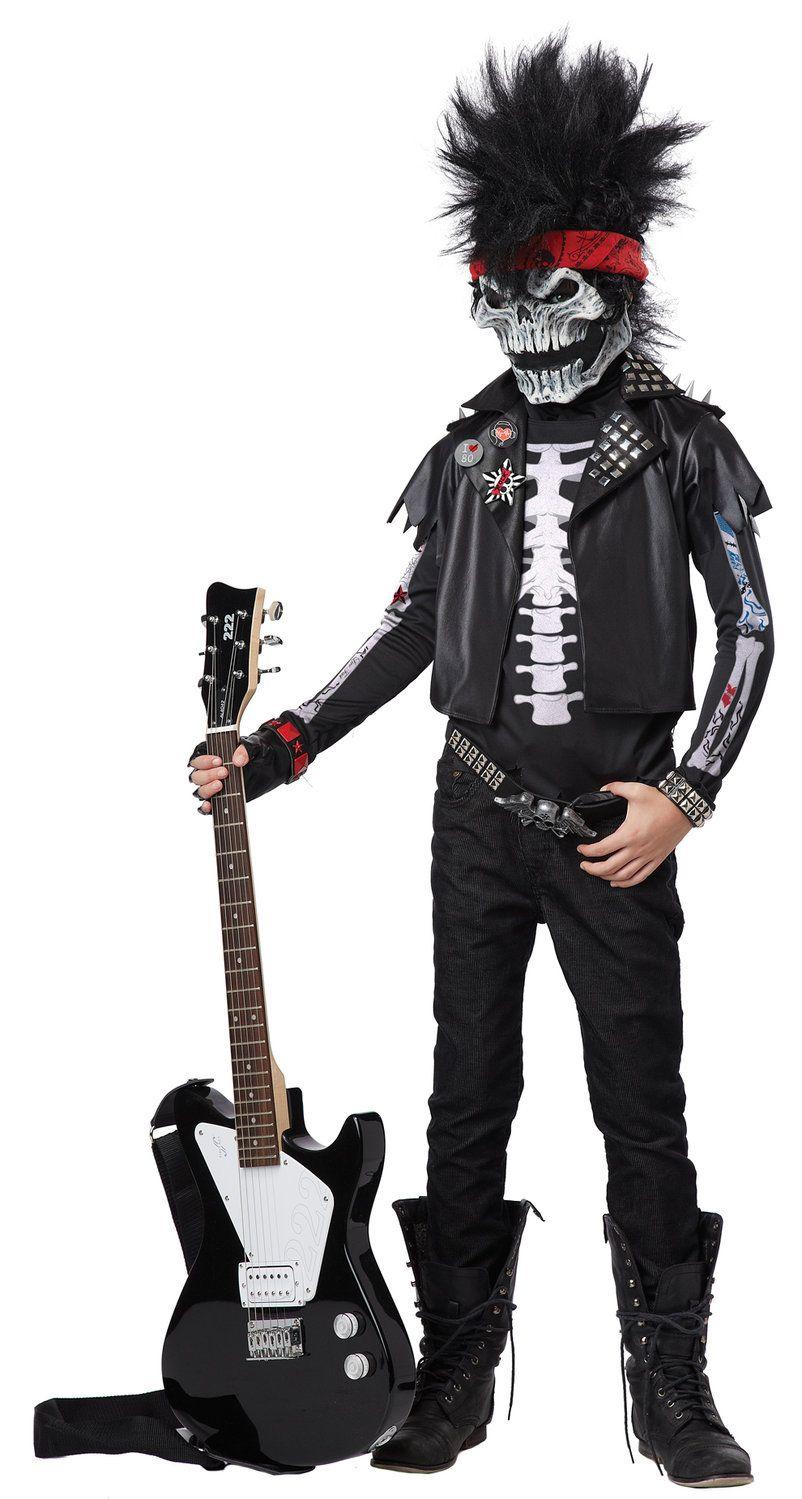 Dead Man Rockin Zombie Rockstar Kids Costume Boy