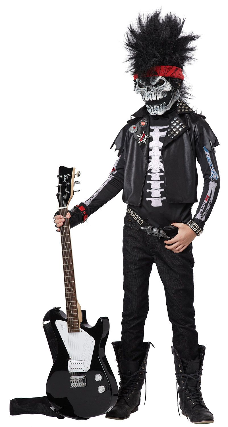 Dead Man Rockin Zombie Rockstar Kids Costume | Costumes for the ...
