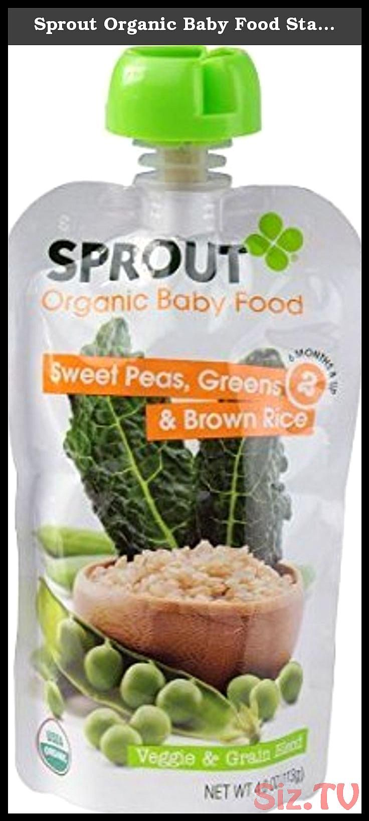 Sprout Organic Baby Food Stage 2 Veggie 038 Grain Blend Sweet Peas Greens and Brown Rice 4 oz Sprout Organic Baby Food Stage 2 Veggie 038 Grain Blend Sprout Organic Baby...